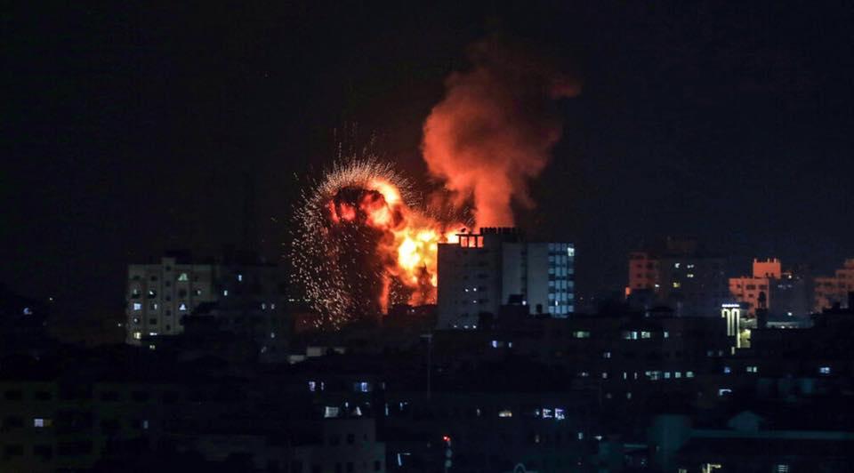 Масований ракетний обстріл з території сектора Газа