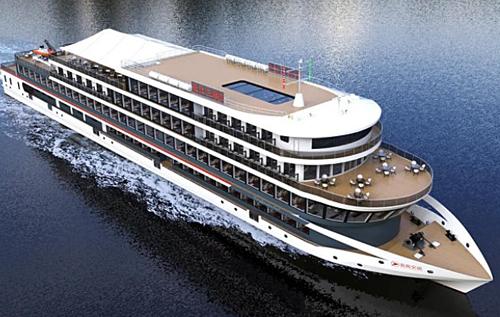В Китае строят большой электрический корабль