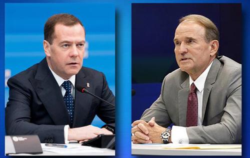 Медведчук пожаловался Медведеву на закрытие трех телеканалов