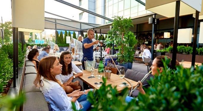 Киев летнее кафе
