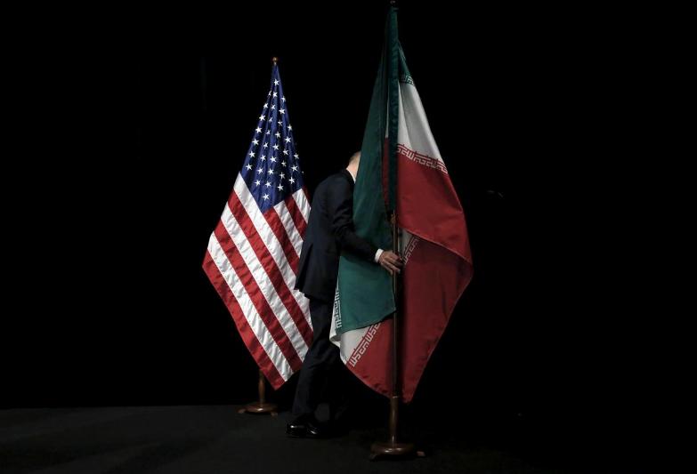 флаги США Иран