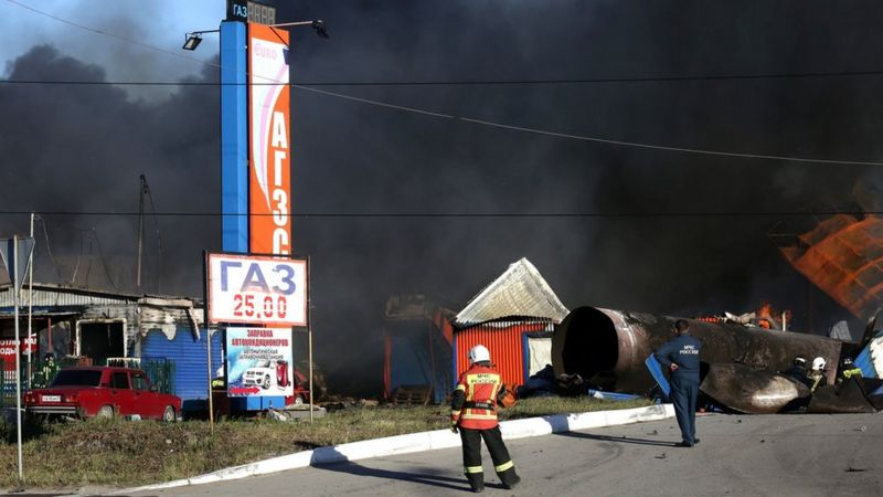 Более 25 пострадавших: в Новосибирске взорвалась АЗС. ВИДЕО