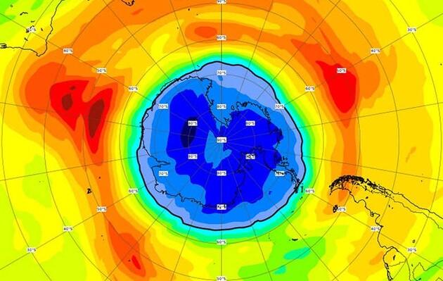 Озоновая дыра над Южным полюсом Земли стала больше Антарктиды
