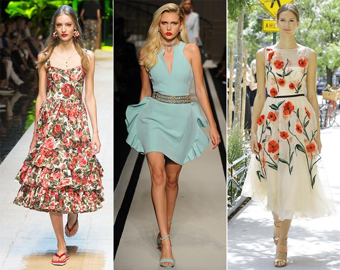 Какие платья в моде 2017 летом
