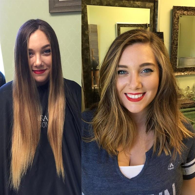 Фото с прическами до и после