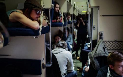 Порно случай в поезде
