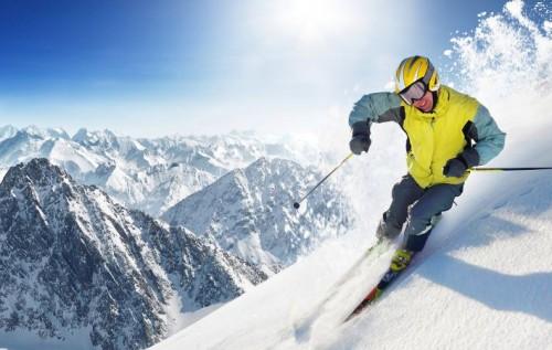 тренер научится ездить на лыжах