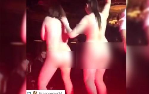 девушки разделись в ночном клубе видео