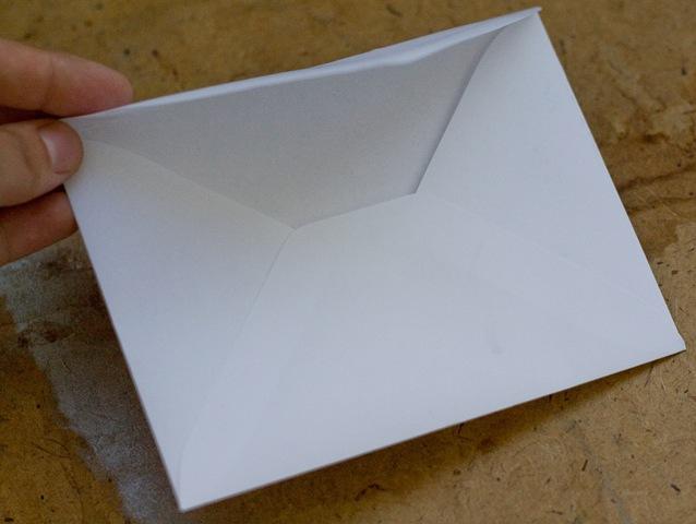 Как сделать конверт из бумаги на почту