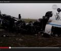 Обнародованы кадры с места крушения самолета во «Внуково». ВИДЕО