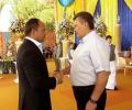 В интернет попало видео с последнего дня рождения Януковича в статусе президента