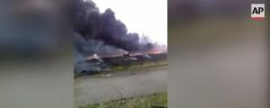Associated Press опубликовало видео первых минут после авиакатастрофы малайзийского «Боинга»
