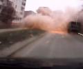 Как водитель чудом избежал обстрела в Мариуполе. ВИДЕО
