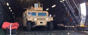 Із США до України прибули перші військові автомобілі «Хамві». ФОТО
